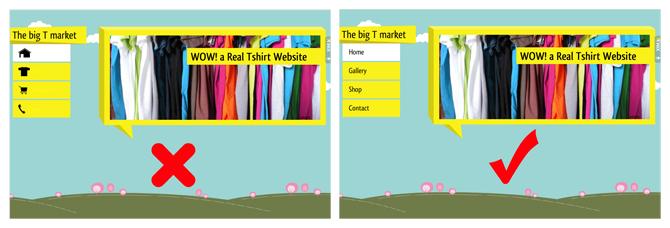 comparação entre texto e imagem