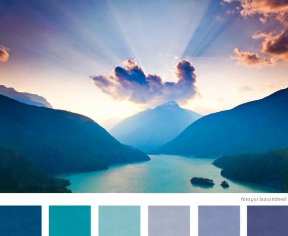 pôr do sol colorido