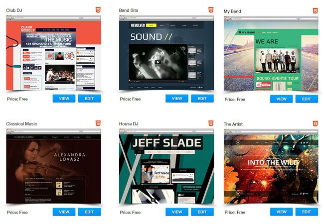 Com o Editor HTML5 do Wix você pode criar um site de música incrível.