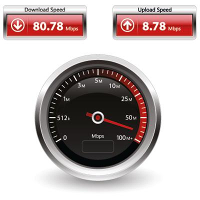 Medidor de velocidade de download