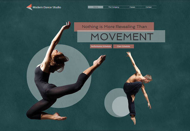 Template Wix Estúdio de Dança