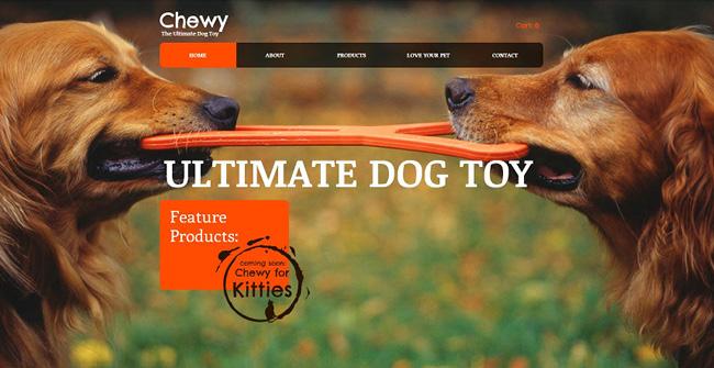 Template Wix Brinquedo de Cachorro
