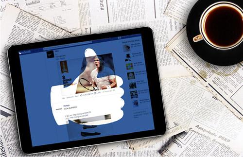 tablet mostrando o símbolo de curtir