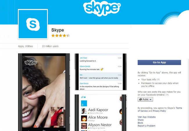 Skype para Facebook