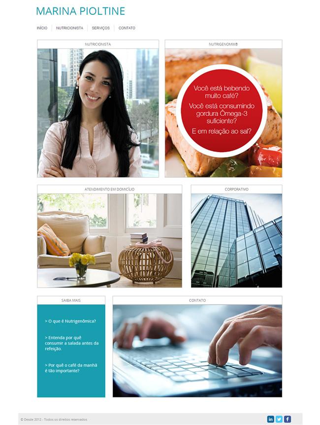 Um lindo site minimalista - garantia de sucesso!