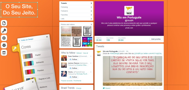 Wix no Twitter