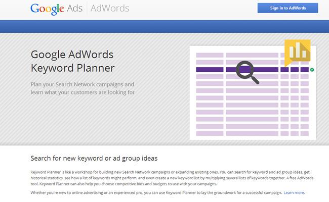 Ferramenta de Palavras-Chave do Google Adword