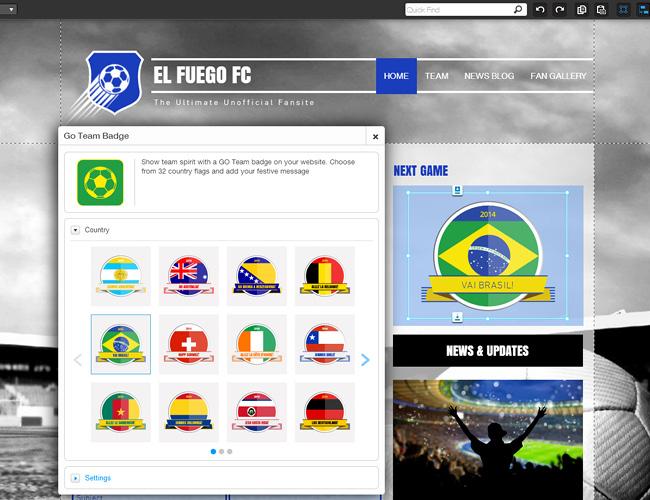 Preparado para a Copa - Adicione um Distintivo ao Seu Site Wix!
