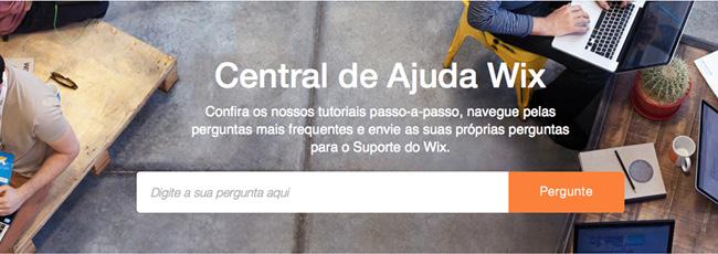 Central de Ajuda Wix