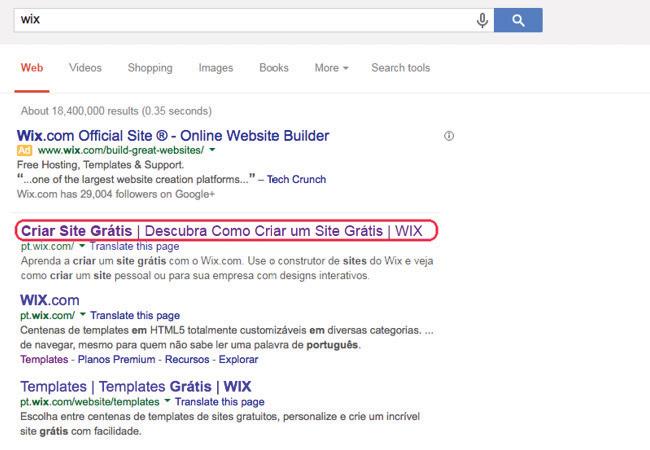 Meta-títulos no Google