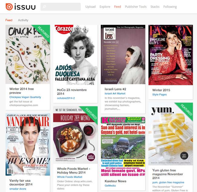 Revistas no Issuu