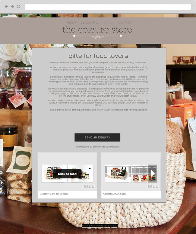 the epicure store