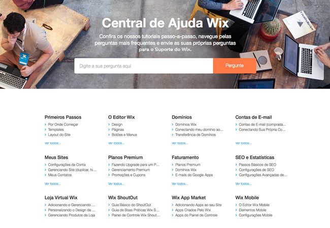 Central de Ajuda do Wix