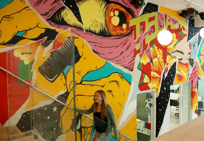 Arte de rua? Arte de escritório!