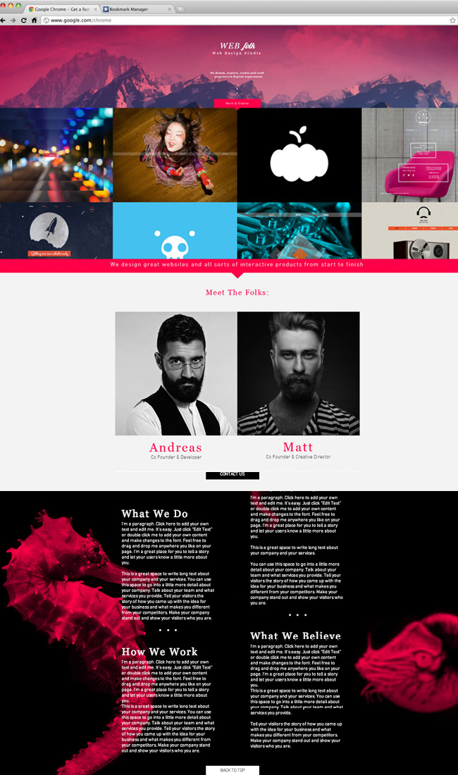 Template Estúdio de Web Design do Wix