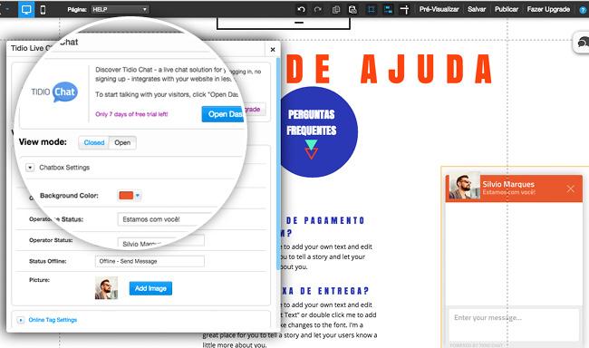 Adicione um app de Chat Ao Vivo