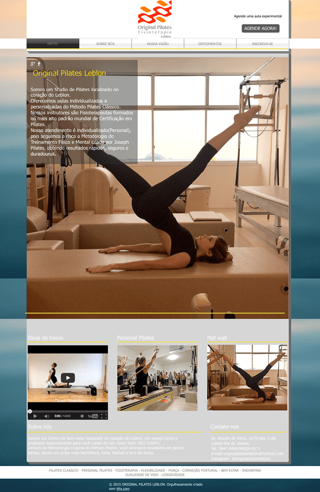 same template - Original Pilates