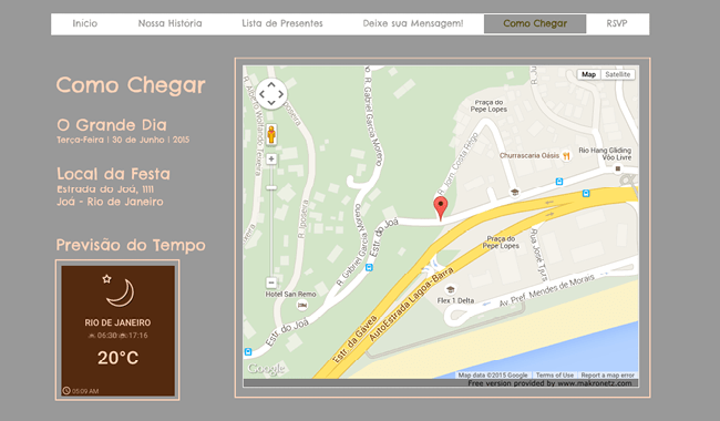 Ferramentas no Wix - Simple Google Maps