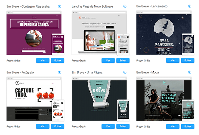 Landing Pages - Templates Wix