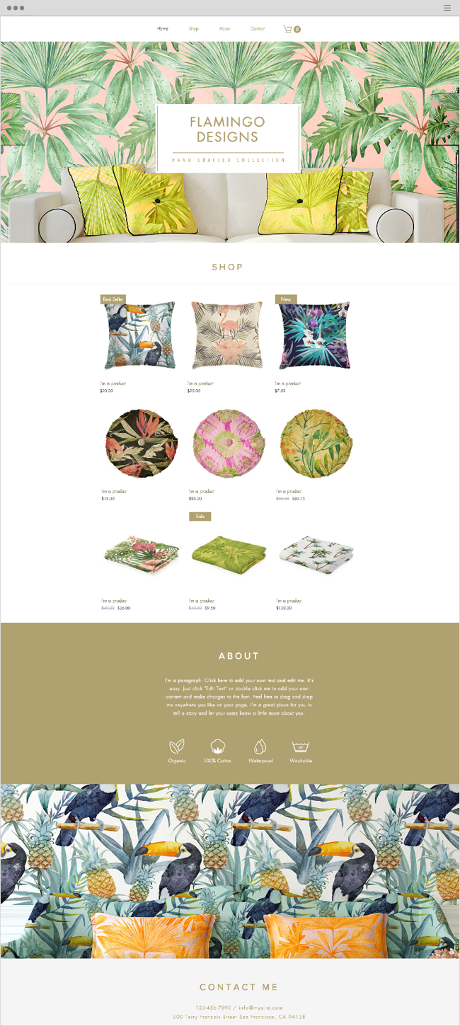 Home Accessories Wix Website Template
