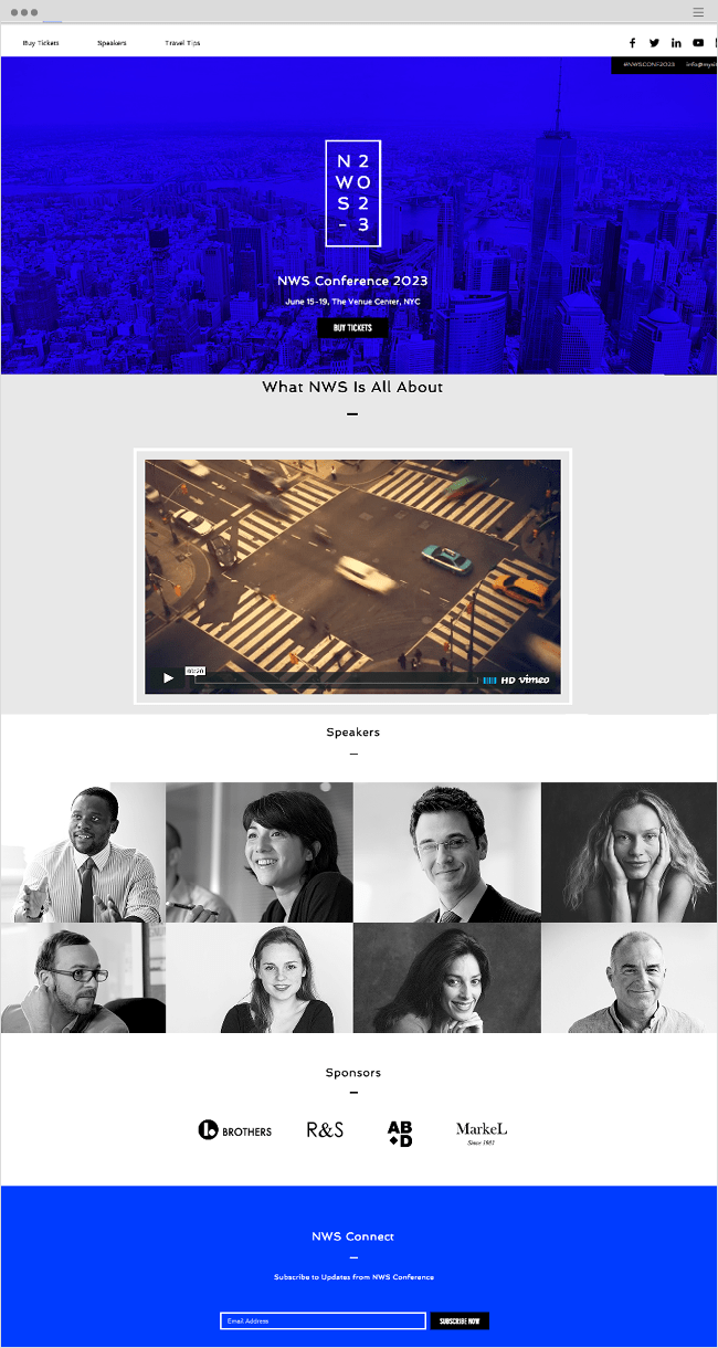 Business Convention Wix Website Template