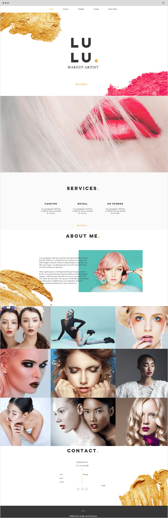 Professional Makeup Wix Website Template