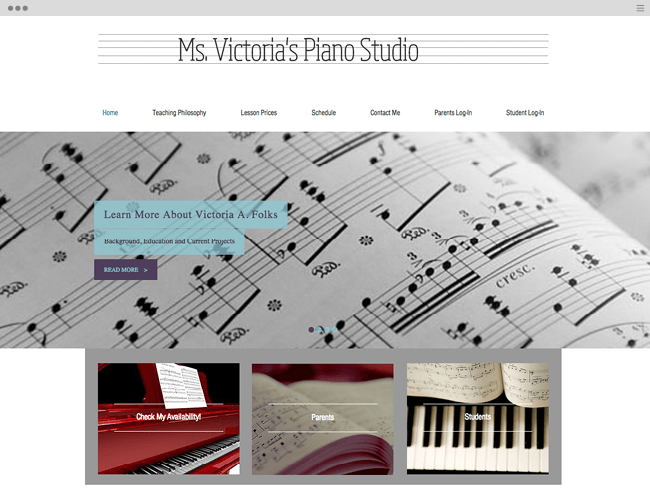 Ms Victoria's Piano Studio