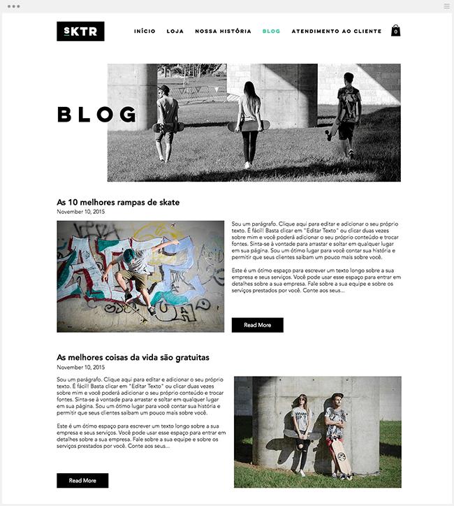 Adicione um blog à sua loja virtual
