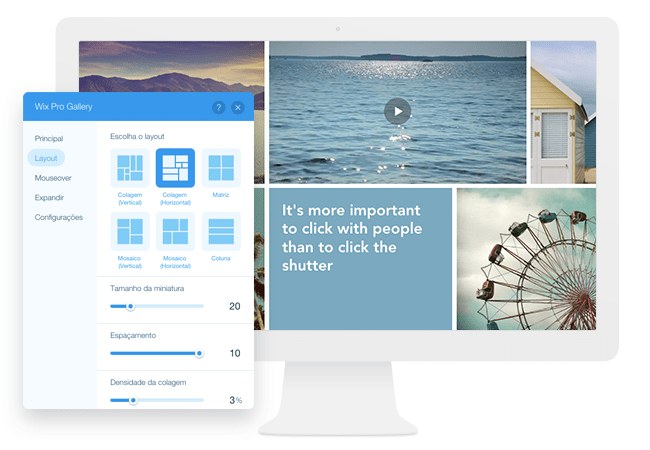 Novidade! Wix Pro Gallery – Apresente Suas Imagens Online Com a Mais Alta Resolução