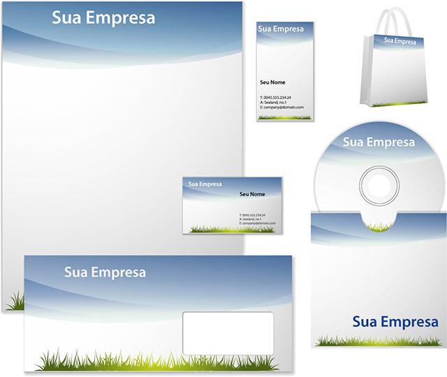 material com logotipo próprio