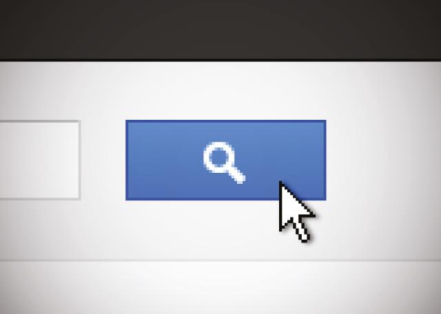 botão de procura online