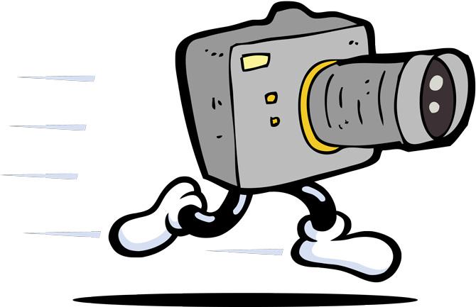 câmera fotográfica com pernas