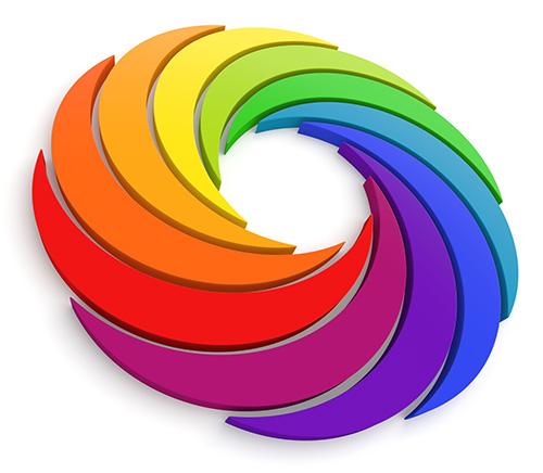disco colorido