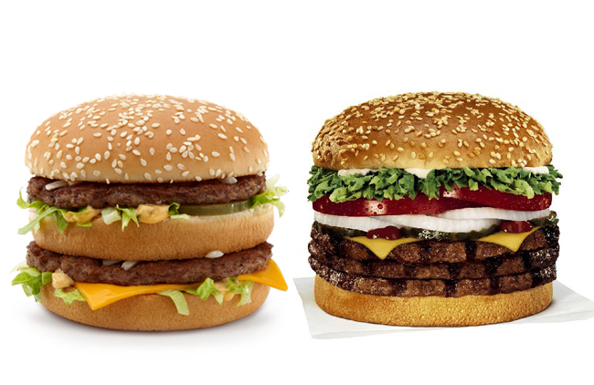 Big Mac versus Whopper
