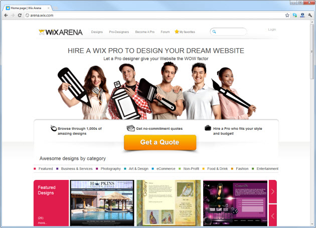 Belos exemplos de sites criados em HTML5 com o Wix