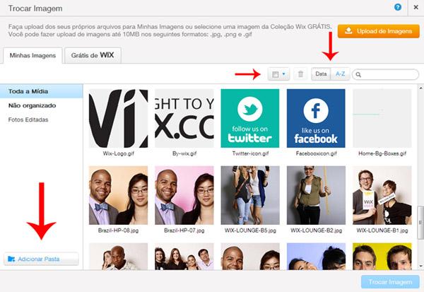 O novo gerenciador de imagens do Wix facilita muito a sua vida.