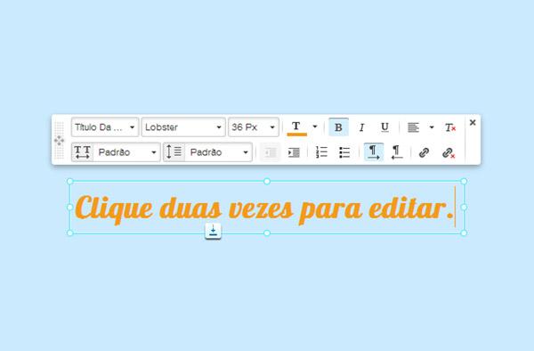 Agora você pode editar o texto do seu site como se estivesse no Microsoft Word.