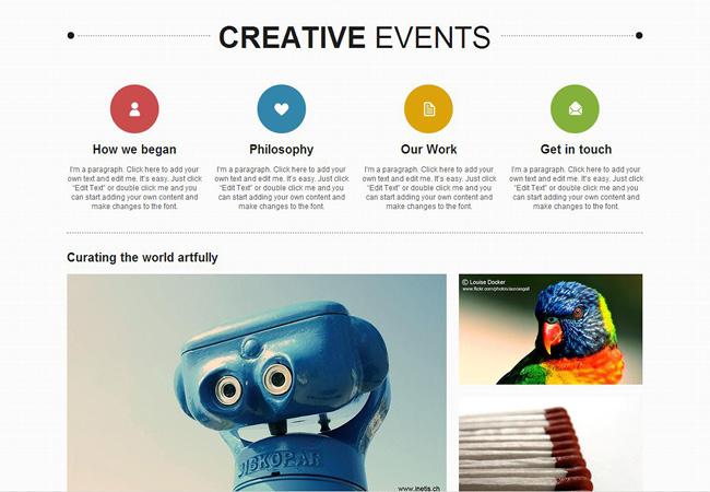 Template Wix Eventos Criativos