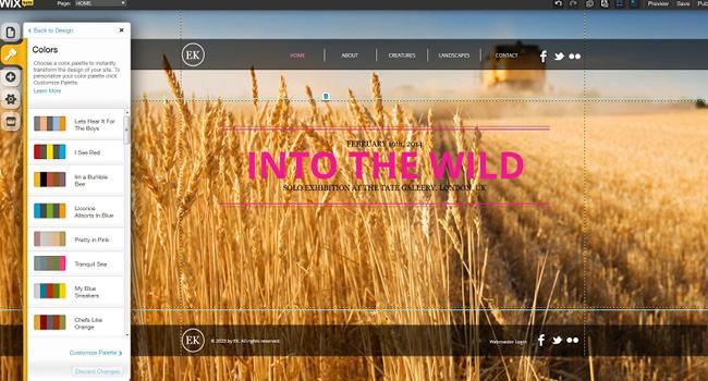 Mudar as cores do site também é muito fácil.