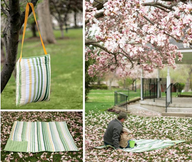 toalha sobre a grama