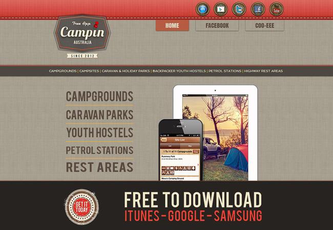 Campin Australia - Aplicativo Mobile
