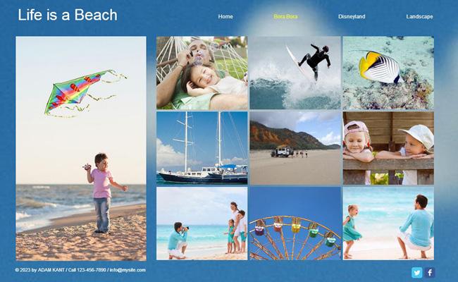 Crar um álbum de fotos online é muito fácil com o Wix