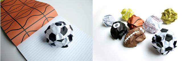 "Bloco de papel ""esportivo"""
