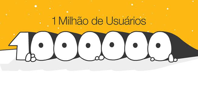 Um milhão de usuários