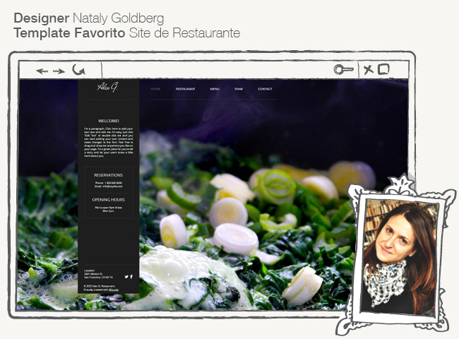 Template Site de Restaurante