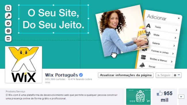 Wix no Facebook