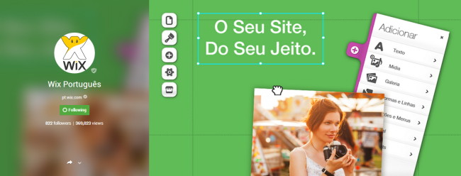 Wix no Google+