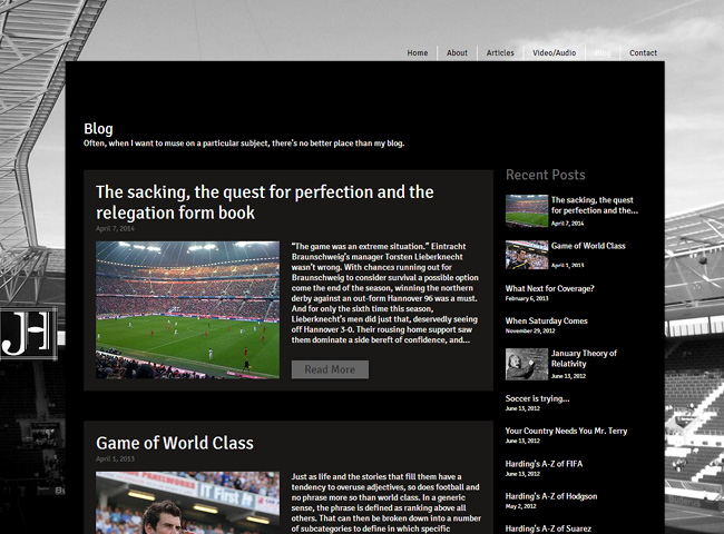 Jonathan Harding's Sports Articles & Blog