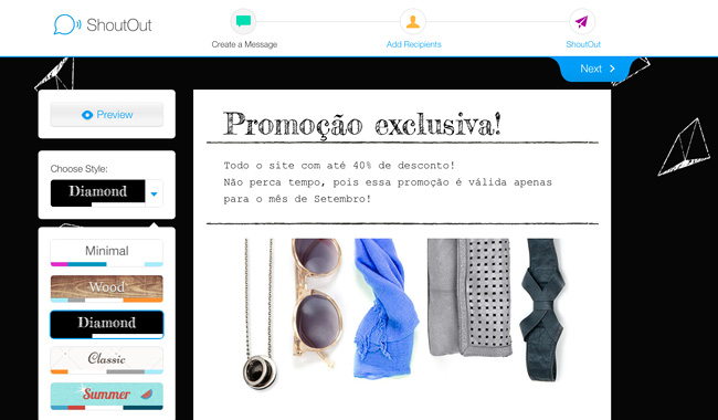 Envie Newsletters com o Wix ShoutOut