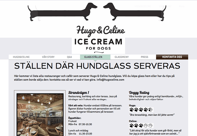 Hugo & Celine Ice Cream for Dogs